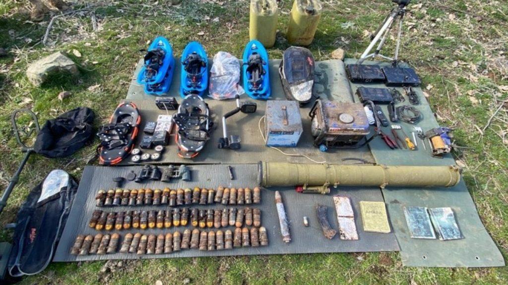Irak'ın kuzeyinde PKK'ya silah ve mühimmat ele geçirildi