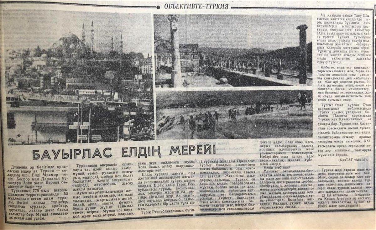Kazakistan, ilk uluslararası anlaşmasını 30 yıl önce Türkiye ile imzaladı #1