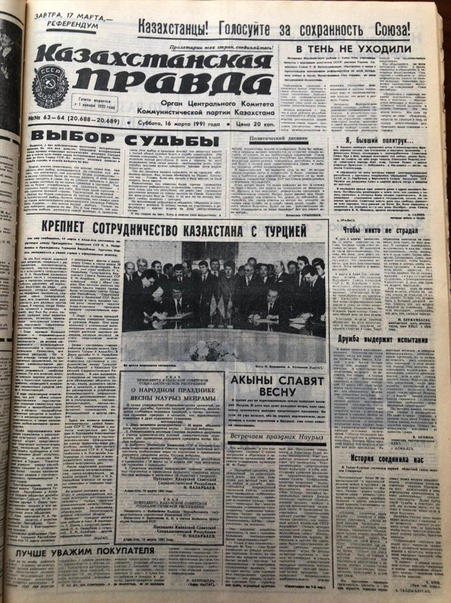 Kazakistan, ilk uluslararası anlaşmasını 30 yıl önce Türkiye ile imzaladı #4