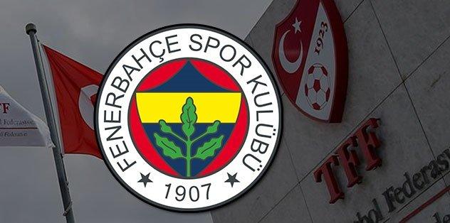 Son dakika spor haberleri: Fenerbahçe'den TFF'ye cevap!